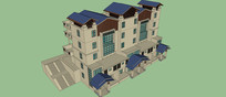 连体别墅模型