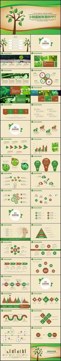 绿色环保儿童教育课件ppt课件模板