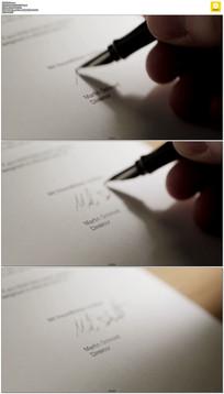 签字签名实拍视频素材