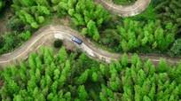 汽车在盘旋公路上行驶汽车广告实拍视频