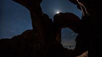 奇形怪石的星空银河延时奇观视频素材