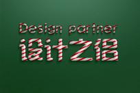 圣诞立体字糖果字体样式设计