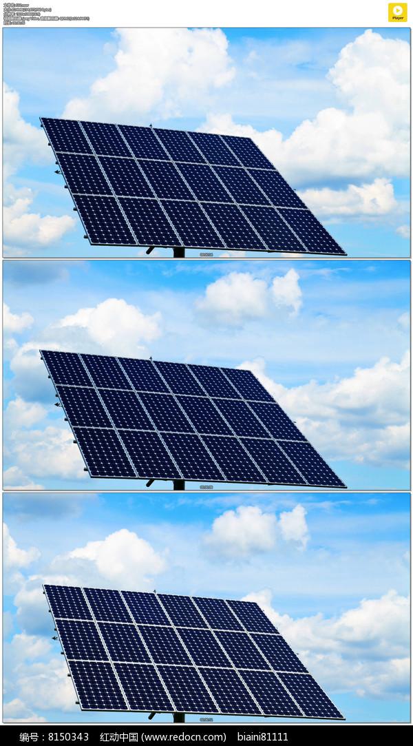 太阳能电池板与一排房屋PSD素材免费下载 红动网