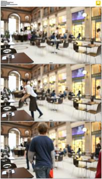 西式餐厅咖啡厅实拍视频素材