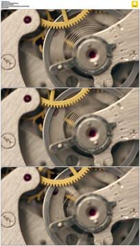旋转的齿轮实拍视频素材