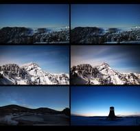 延时摄影雪景视频