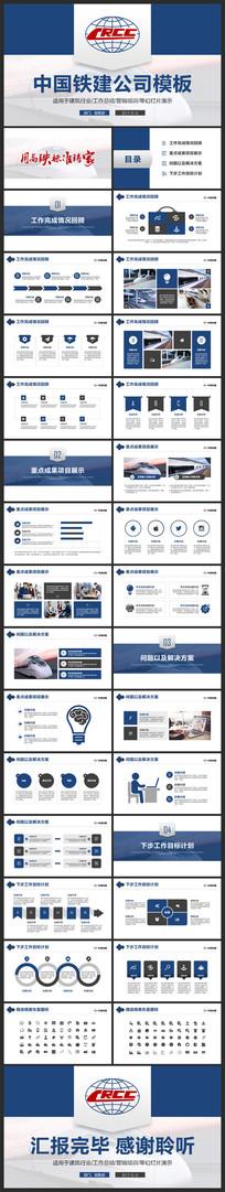 中国铁建公司培训总结汇报PPT模板