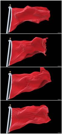 4k超高清红旗飘动视频素材
