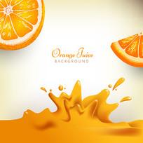 橙汁榨的果汁素材