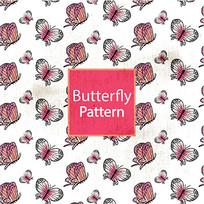 粉红蝴蝶图案背景