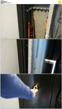 关门反锁实拍视频素材