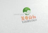 简约中国风茶业标志设计 CDR