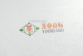简约中国风茶业logo设计