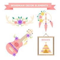 吉他花纹装饰元素矢量素材