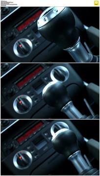 汽车换挡按钮实拍视频素材