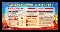 中国共产党廉洁自律准则展板下载