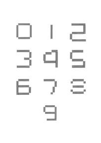 阿拉伯数字变形 CDR