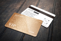 复古纹理地产VIP会员卡