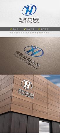 蓝色XH字母logo