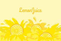 美味柠檬汁素材