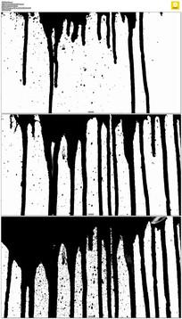 水墨往下流动态视频素材