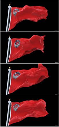 消防旗帜视频素材
