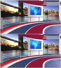 新闻主播背景视频