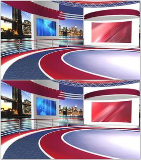虚拟演播室动态背景视频