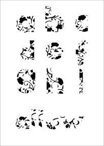 英语字母艺术字体设计