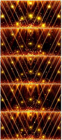 震撼大气金色粒子光线颁奖开幕式LED背景