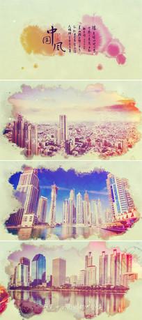 中国风水墨城市旅游景点宣传片模板