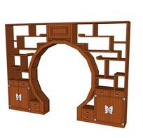 典雅中式书柜装饰柜