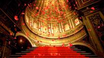 教堂玫瑰飘落婚庆视频素材