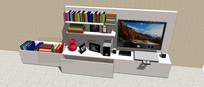 客厅电视墙模型