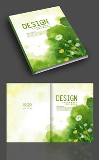绿色自然蒲公英画册封面