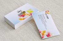 清新立体色块企业名片设计 PSD