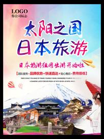日本旅游海报展板