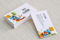 色块企业名片设计 PSD
