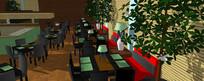 生态餐厅装修模型