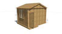 小型格栅木板木屋