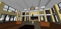 行政楼大厅模型