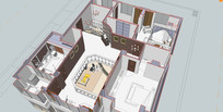 跃层室内装修模型