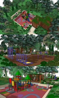 城市儿童游乐公园景观