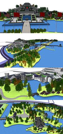 城市公园大型规划景观