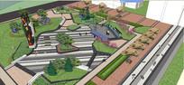 城市街角公园景观设计