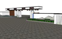 典雅中式大门入口