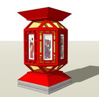 古典中式观赏花灯模型