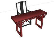 古典中式花纹椅子