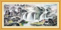 国画山水风景画装饰挂画