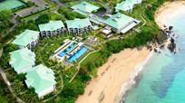 海边度假别墅酒店鸟瞰